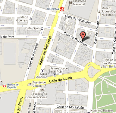 Plano de acceso de Hotel Ac Recoletos