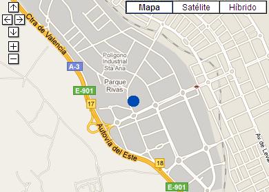Plano de acceso de Hotel Ac Rivas Vaciamadrid