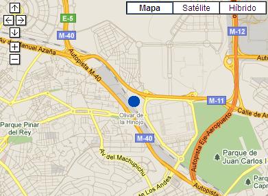 Plano de acceso de Hotel Ac Madrid Feria