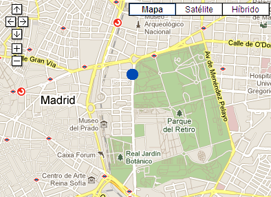 Plano de acceso de Hotel Ac Palacio Del Retiro