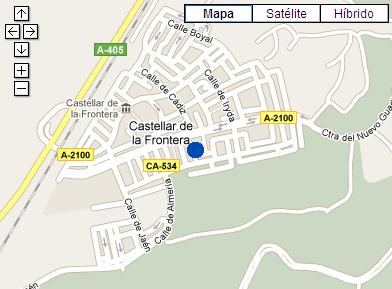 Plano de acceso de Hotel Castillo De Castellar