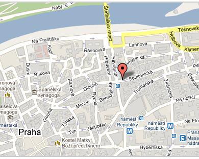 Plano de acceso de Residence Verona Praga Apartho