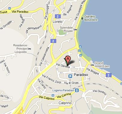 Plano de acceso de Hotel Holiday Inn Lugano Centre