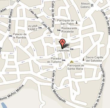 Plano de acceso de Hotel Maria De Molina