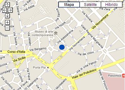 Plano de acceso de Hotel Porta Pia