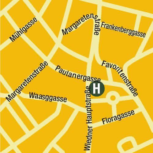 Plano de acceso de Austria Classic Hotel Papageno