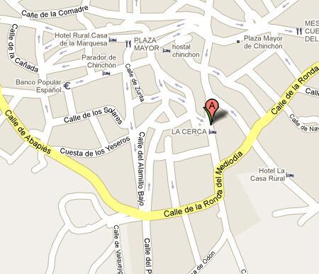 Plano de acceso de Hotel La Cerca