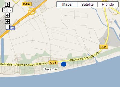 Plano de acceso de Hotel Ac Gava Mar