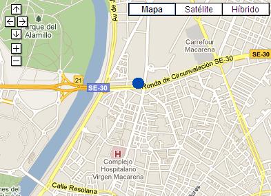 Plano de acceso de Hotel Ac Sevilla Torneo