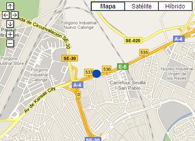 Plano de acceso de Hotel Ac Sevilla Forum