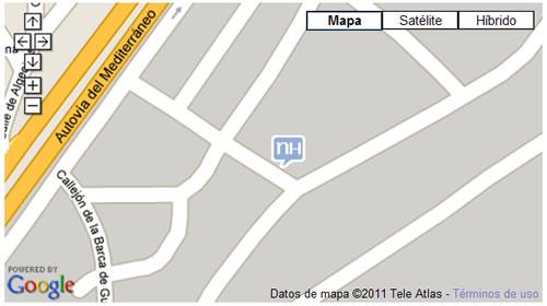 Plano de acceso de Hotel Nh Campo De Gibraltar