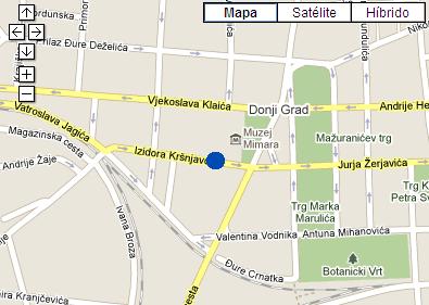 Plano de acceso de The Westin Zagreb Hotel