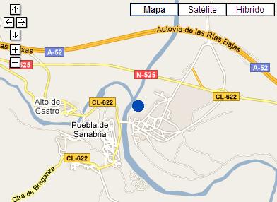 Plano de acceso de Hotel Los Perales