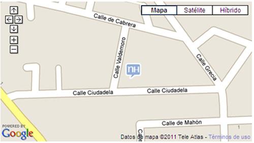 Plano de acceso de Hotel Nh Campo De Cartagena