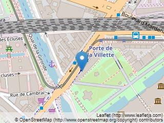Plano de acceso de Hotel Forest Hill Paris La Villette