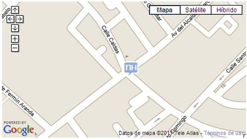 Plano de acceso de Hotel Nh Avenida Jerez