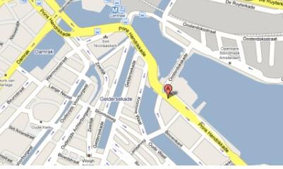 Plano de acceso de Grand Hotel Amrath Amsterdam