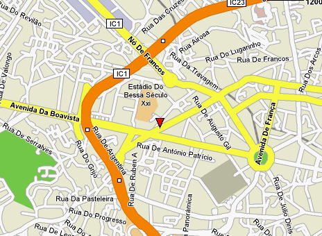 Plano de acceso de Sheraton Porto Hotel And Spa