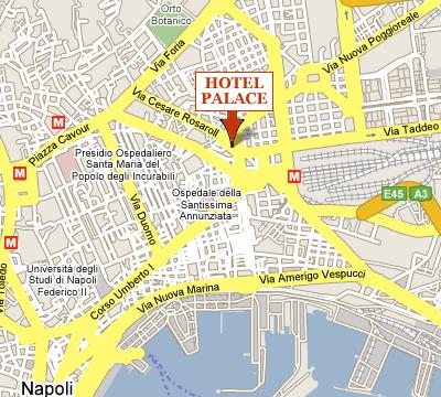 Plano de acceso de Hotel La Pace