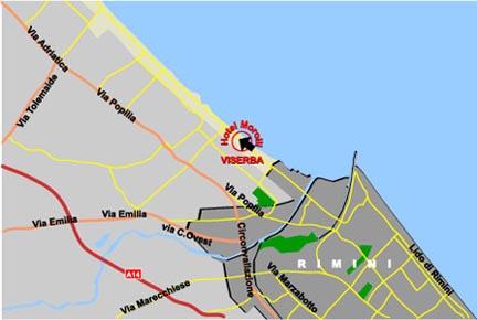 Plano de acceso de Hotel Morolli