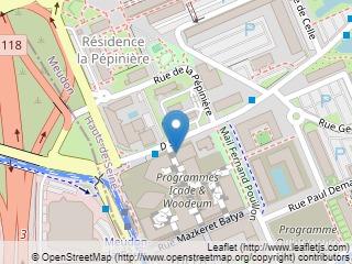 Plano de acceso de Hotel Forest Hill Meudon Velizy