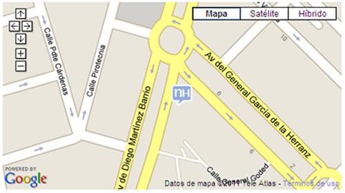 Plano de acceso de Hotel Nh Central De Convenciones
