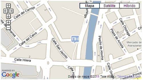 Plano de acceso de Hotel Nh Málaga