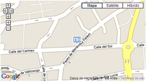 Plano de acceso de Hotel Nh Ciudad De Santander