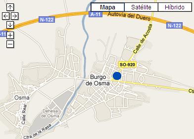 Plano de acceso de Hotel Termal Burgo De Osma