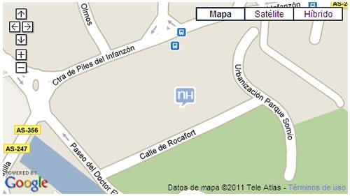 Plano de acceso de Hotel Nh Gijon