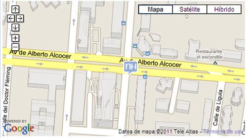 Plano de acceso de Hotel Nh Eurobuilding