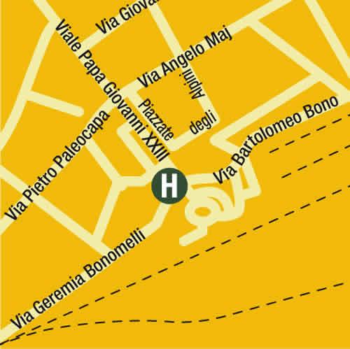 Plano de acceso de Hotel Albergo Piemontese