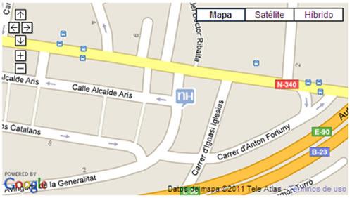 Plano de acceso de Hotel Nh Porta Barcelona