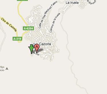 Plano de acceso de Hotel Villa De Cazorla
