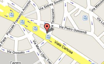 Plano de acceso de Hotel Antares Accademia