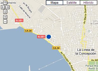 Plano de acceso de Hotel Ac La Linea