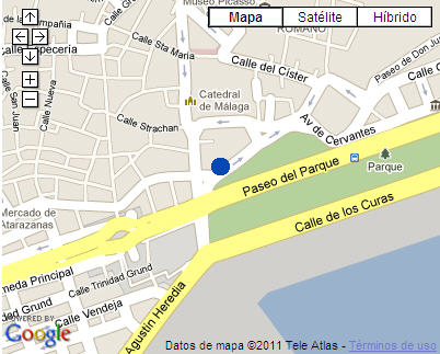 Plano de acceso de Hotel Ac Malaga Palacio