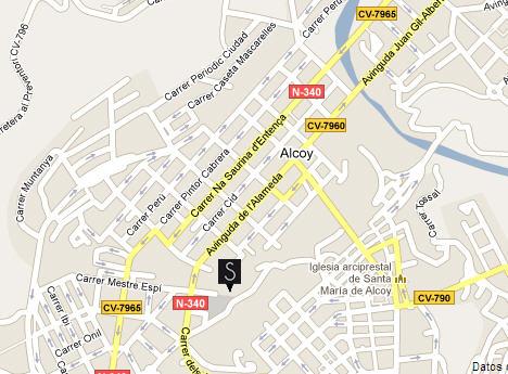 Plano de acceso de Hotel Ac Ciutat D`Alcoi