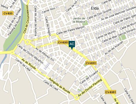 Plano de acceso de Hotel Ac Elda