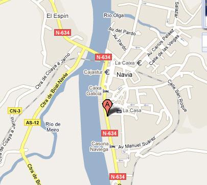 Plano de acceso de Hotel Aptos. Palacio Arias