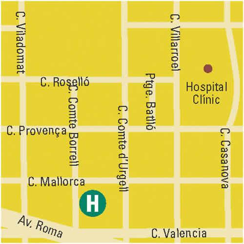 Plano de acceso de Hotel Amister Barcelona