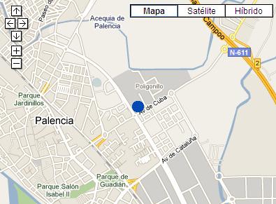 Plano de acceso de Hotel Ac Palencia
