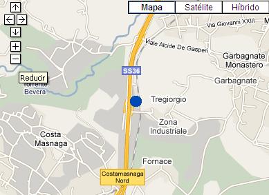 Plano de acceso de Quality Hotel San Martino