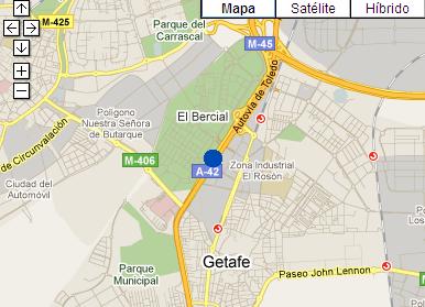 Plano de acceso de Hotel Ac Getafe
