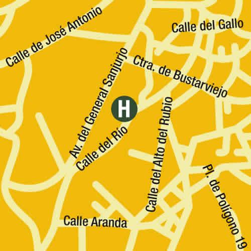 Plano de acceso de Hotel Miraflores Metropol Rooms