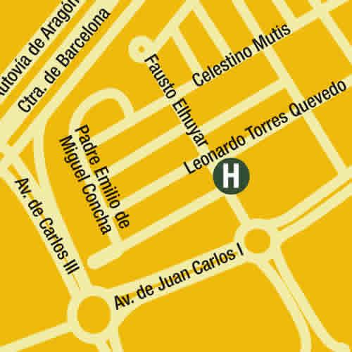 Plano de acceso de Hotel Metropol Rooms Alcala