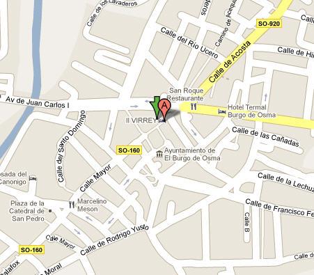 Plano de acceso de Hotel Virrey Palafox