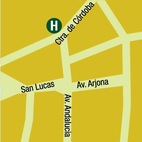 Plano de acceso de Hotel Imora