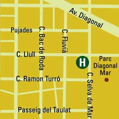 Plano de acceso de Hotel Vincci Maritimo