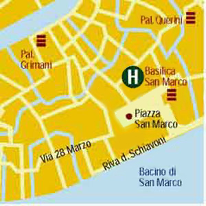 Plano de acceso de Hotel Suites Torre Dell'orologio